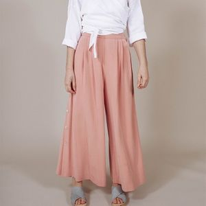 Mara Hoffman Button Side Apricot Culottes